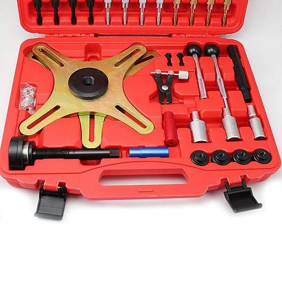 PRIT 38 Piezas SAC montaje Herramientas embrague, Set de herramientas de embrague autoajustable para Audi, BMW, Fiat, Mercedes-Benz, Renault, Vauxhall/Opel ...