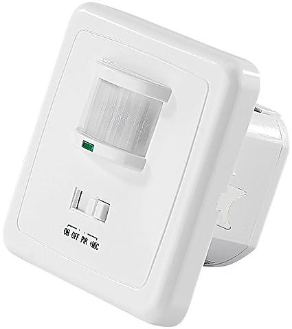 Revolt NC de 5389 – 909 Detector de movimiento interruptor: Interruptor de luz automático con