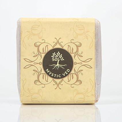 Mystic Ved Natural hecho a mano prensado en frío manteca de karité cuerpo jabón barra con