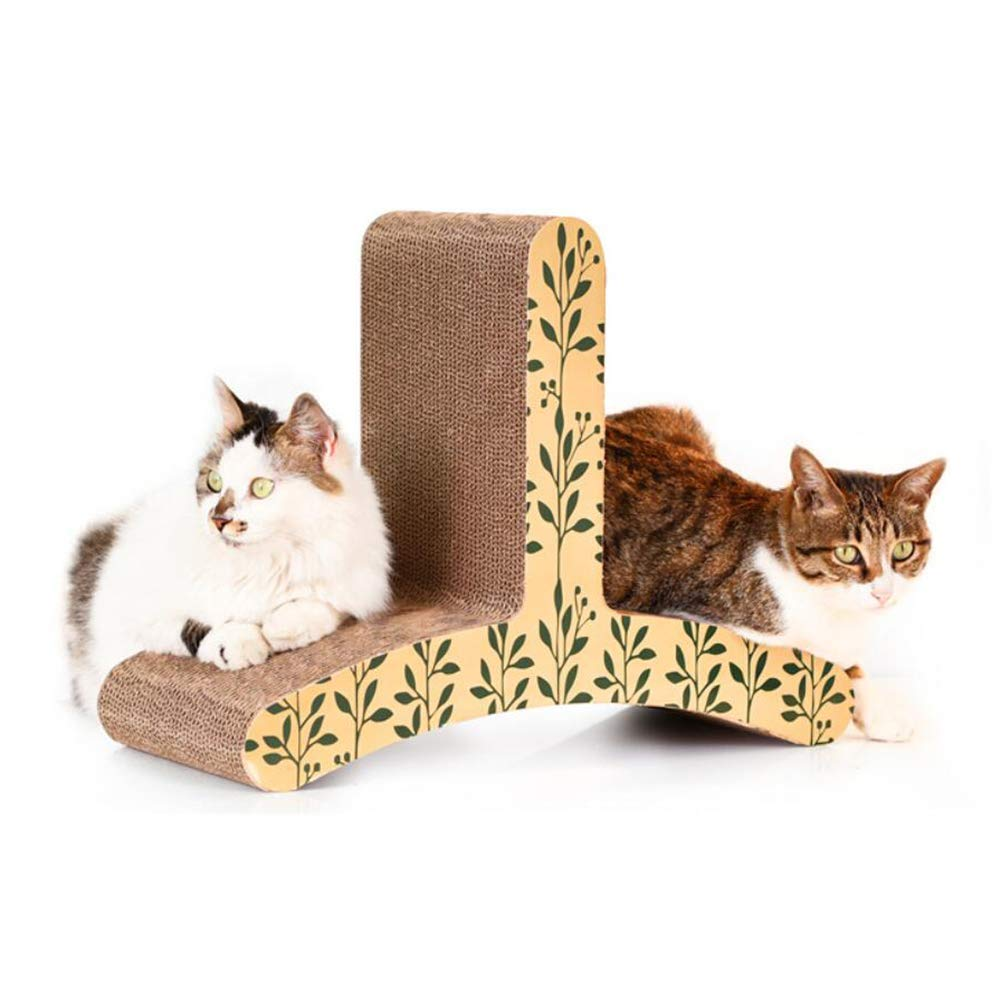 UTOPIAY T shape Cat Scratcher Corrugated Cat Scratcher bed with Catnip,Cardboard Lounge,Superior Cardboard & Construction