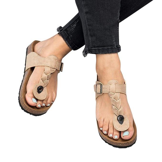 e17feb36fb05c Amazon.com: Memela Clearance sale Women Flat Sandals Slip On Outdoor ...