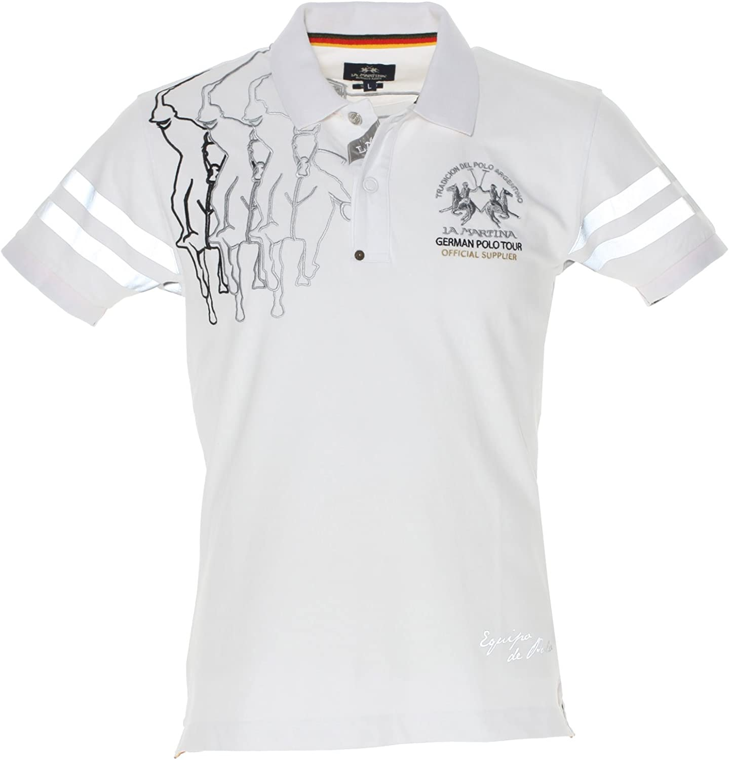 La Martina German Tour Polo Camisa, Blanco (00001 Optic White), L para Hombre: Amazon.es: Ropa y accesorios