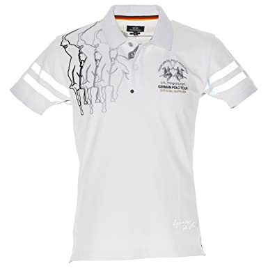 La Martina German Tour Polo, Camisa para Hombre, Blanco (00001 ...