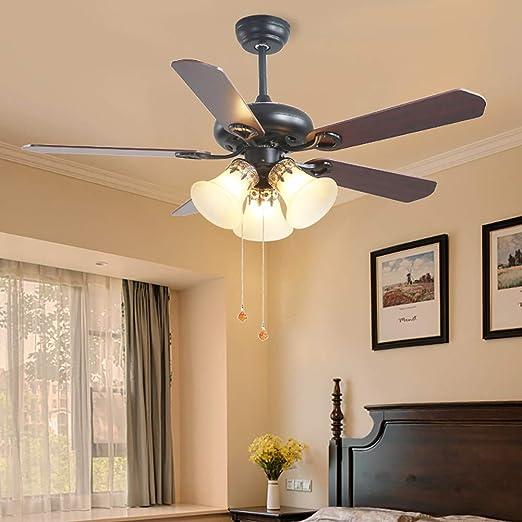 Luz de ventilador de techo, lámpara de araña de ventilador, 3 ...