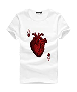 Oyedens Camiseta, Muchachos de los Hombres más Las Camisetas de la impresión del tamaño Ponen en Cortocircuito la Blusa de la Camiseta del algodón de la Manga de la Camisa (M)