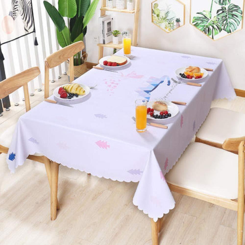WJJYTX Wachstuch tischdecke, quadratische tischdecke klapptisch Abdeckung wasserdicht Polyester Baumwolle Land Garten für küchenmöbel PVC @ 137 * 200