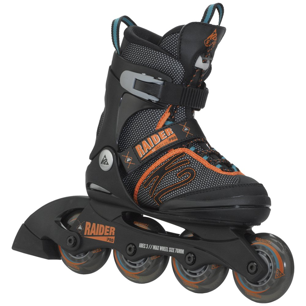 K2 Skate Boy's Raider Pro Inline Skates, Black/Orange,  1-5