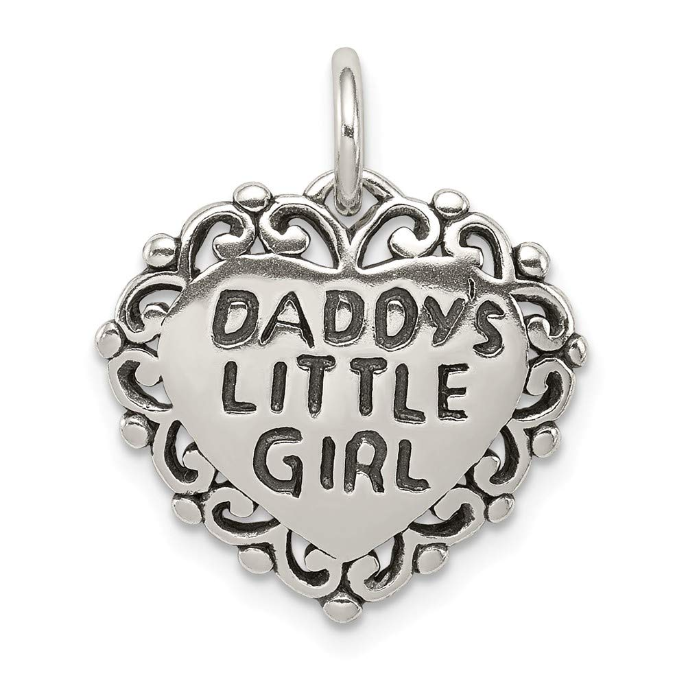 FB Jewels Solid 925 Sterling Silver Antiqued DaddyS Little Girl
