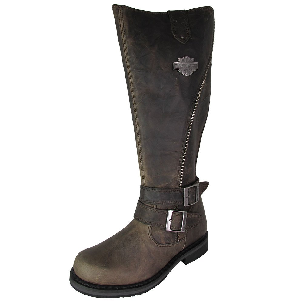 Harley-Davidson Women's Sennett Riding Boot, Olive, 9 M US