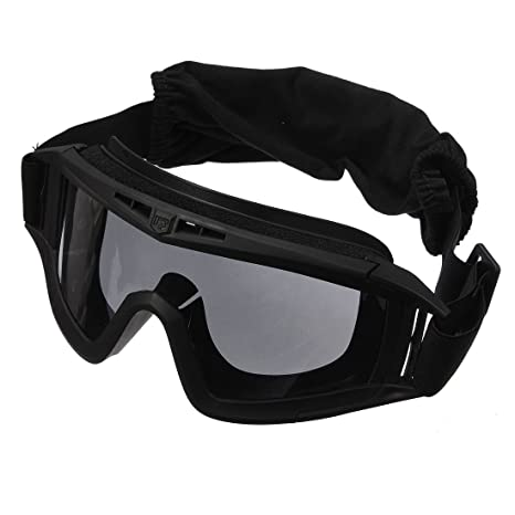 74c5dd2ddab Image Unavailable. Image not available for. Color  Black Cs Airsoft  Tactical Swat Goggles Anti-Fog Glasses Eye Protection ...