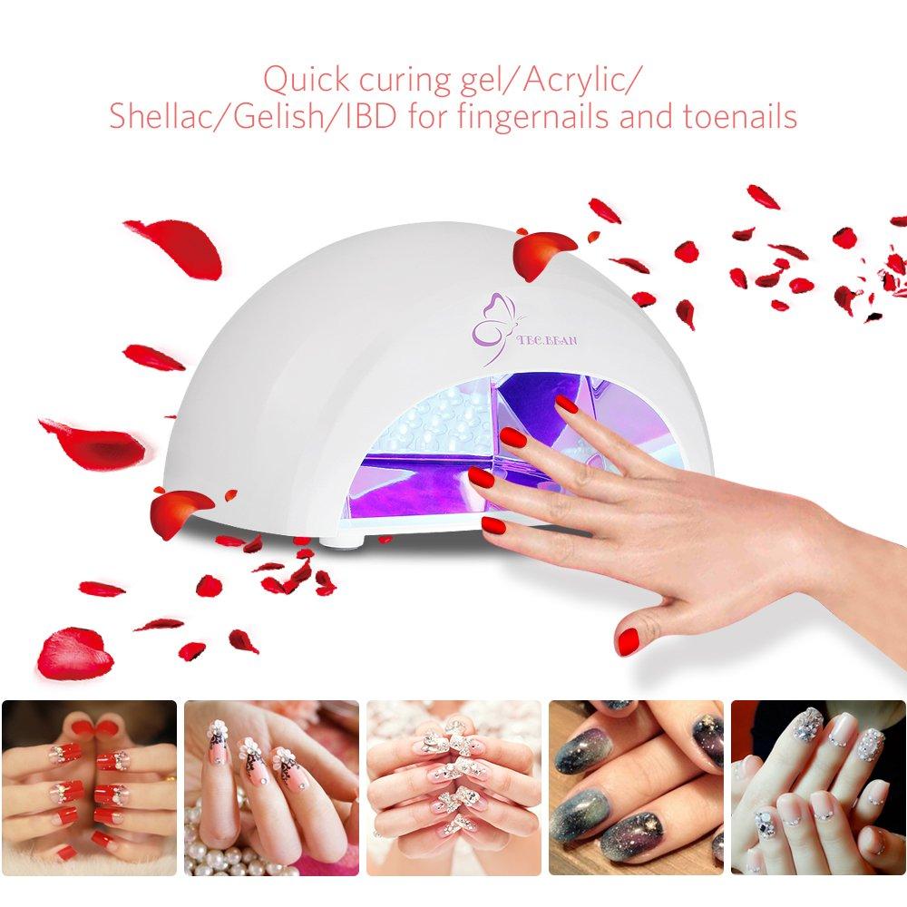 Amazon.com : Nail Polish Dryer 12W LED Nail Lamp Manicure Curing ...