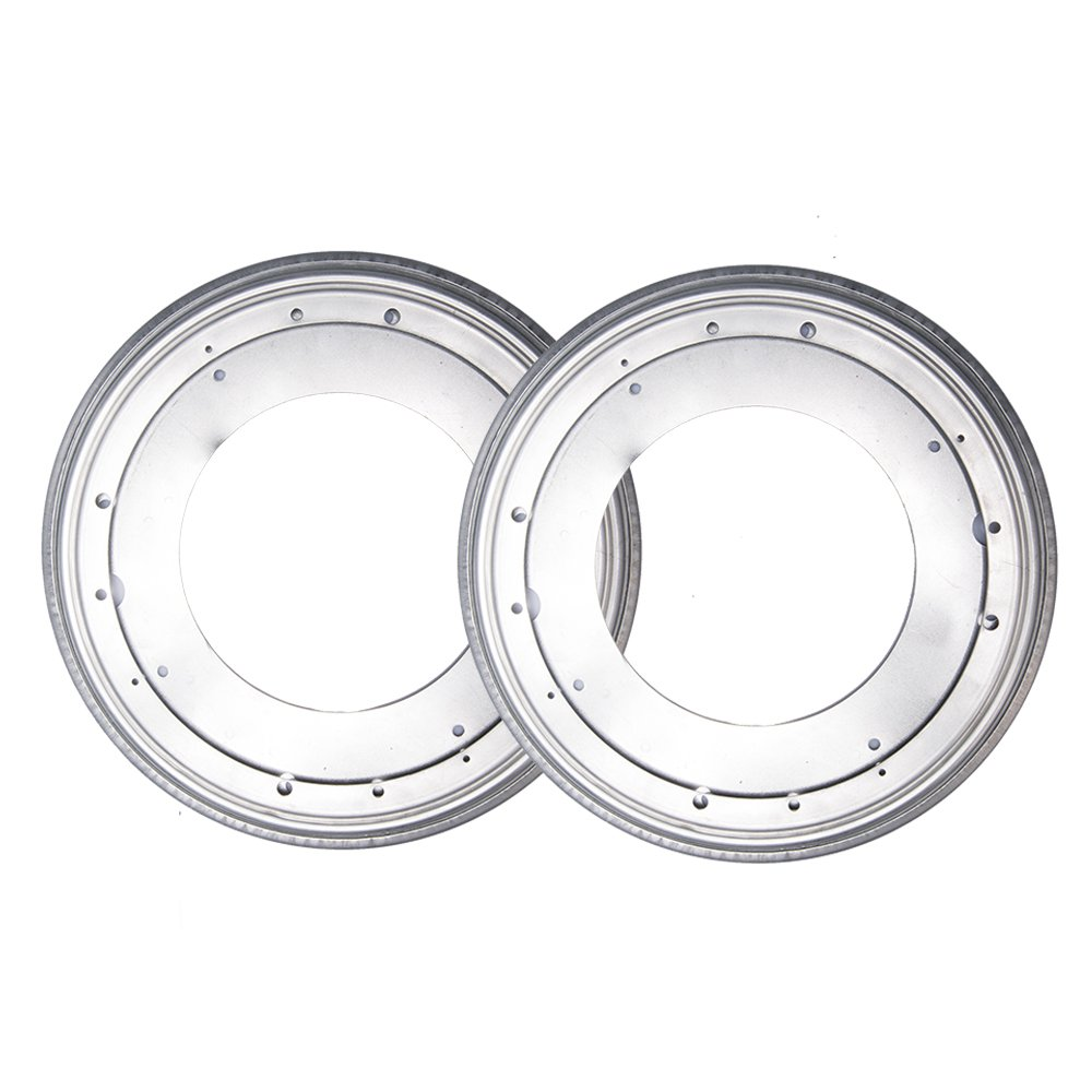 Fasmov 12-inch Lazy Susan 5/16 Thick Turntable Bearings, Pack of 2