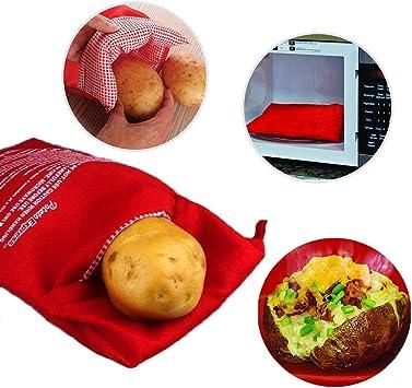 Amazon.com: KISEER Bolsa de patata para microondas, 3 ...