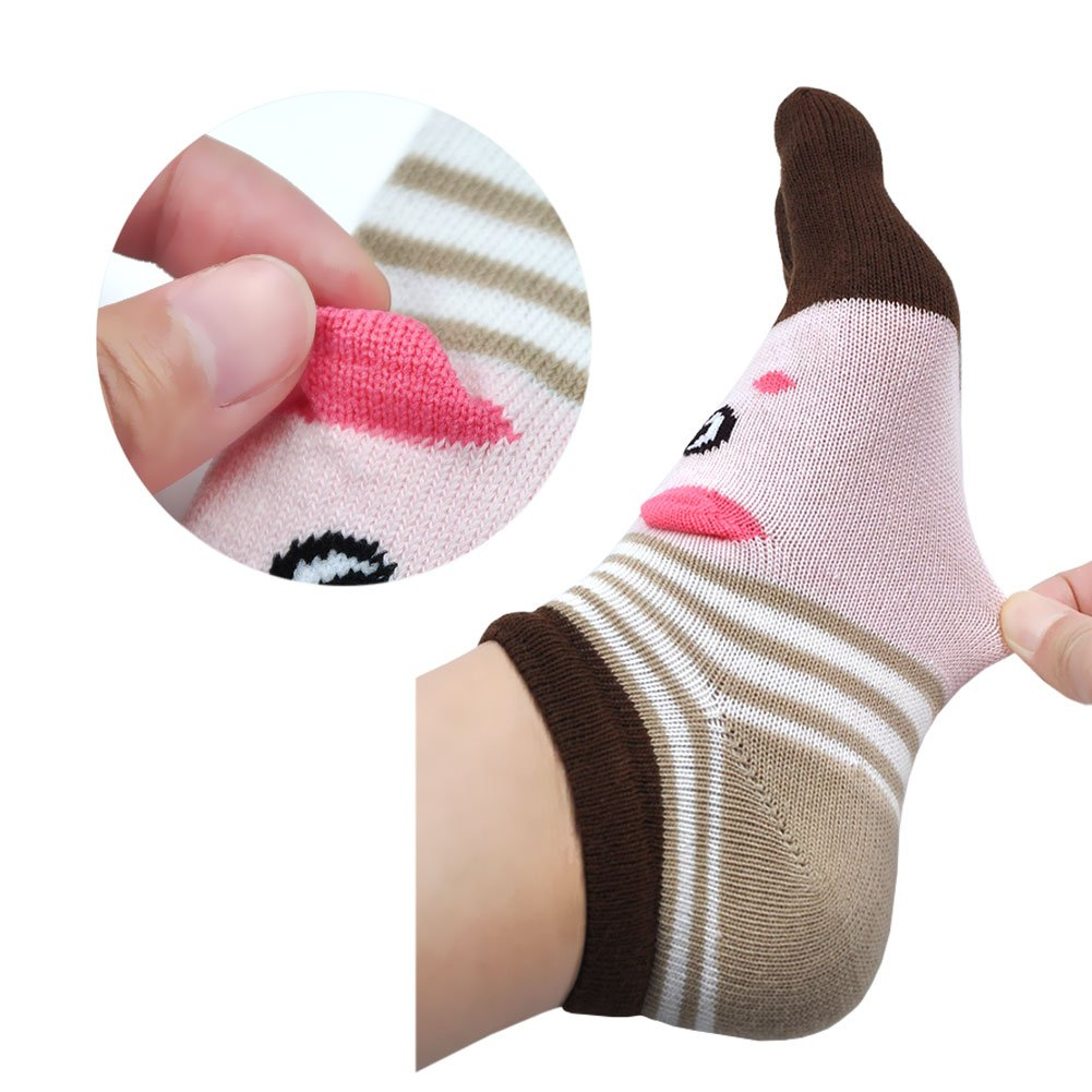 Calcetines divertidos del dedo del pie de las mujeres calcetines de ...