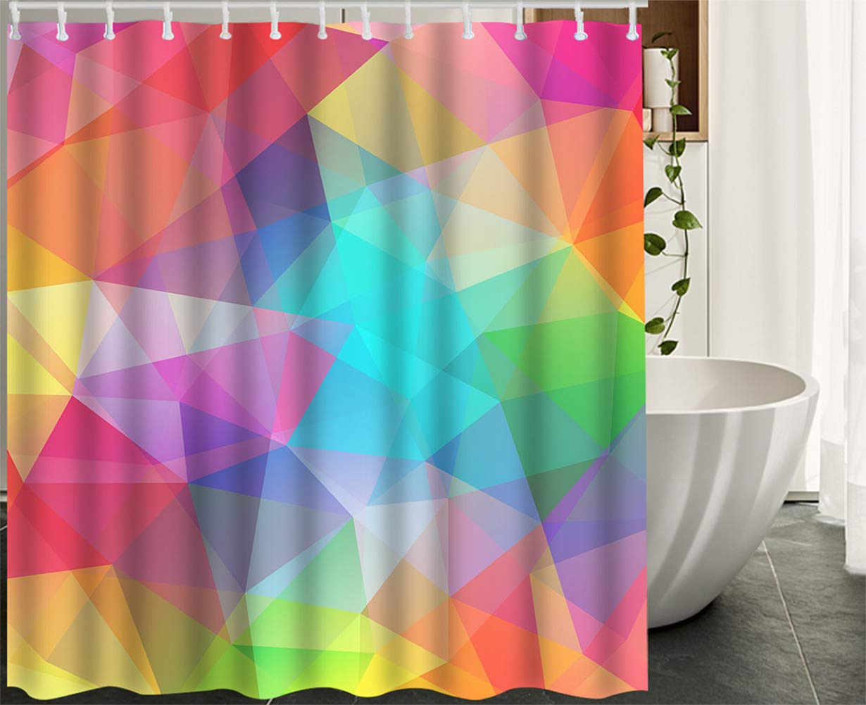 Amazon.com: HGOD DESIGNS Geometric Shower Curtain,Abstract ... on painted bathtub, painted patio designs, painted chairs designs, painted floor designs, painted table designs, painted furniture designs, painted photography, painted boat designs, painted closets, painted door designs, painted carpet designs, painted glass designs, painted room designs, painted porch designs, painted christmas designs, painted fireplace designs, painted bedroom, painted window designs, painted cabinet designs, painted car designs,
