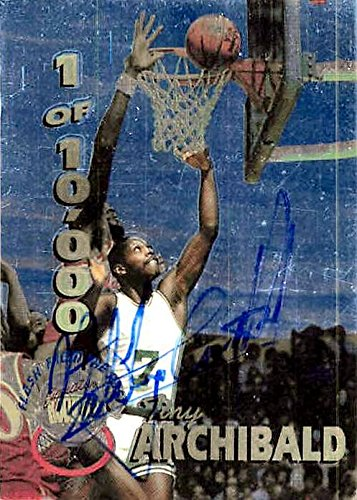 Autographed Basketball Archibald (Tiny Archibald autographed basketball card (Kansas City/Omaha, SC) 1995 Signature Rookies #FP6 - Unsigned Basketball Cards)