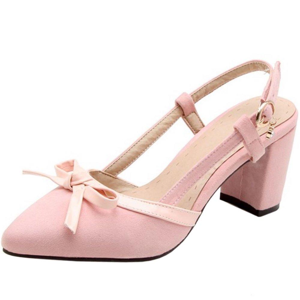Zanpa Heels Femmes Doux Escarpins Slip Escarpins on Heels Pink Chaussures Pink 47a1758 - boatplans.space