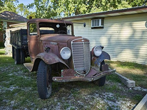Photograph| Old, rusted truck outside the Cutler General Store in the Carroll County, Indiana, settlement of Cutler 1 Fine Art Photo Reproduction 44in x 32in