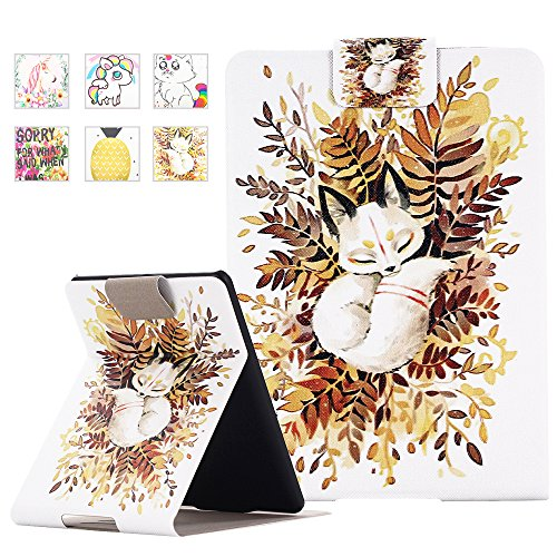Kindle Paperwhite Case - Monstek Ultra Slim PU Leather Case Cover Vertical Stand Auto Sleep for All-New Amazon Kindle Paperwhite (Fits All 2012, 2013, 2015 and 2016 Versions),01 Baby Fox