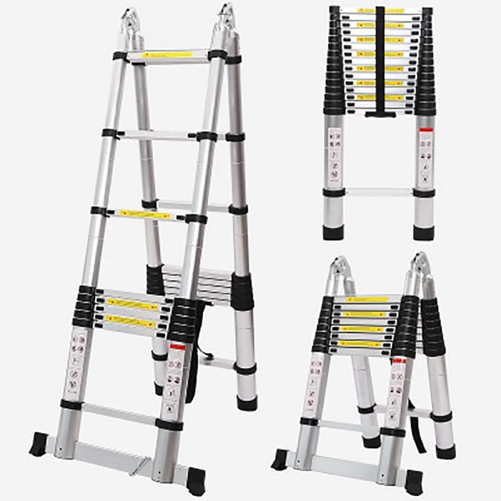 Multifunción Telescópico Escalera,aluminio Aleación Escaleras De Mano Extensión Escalera Portátil Extensible Para El Hogar Loft Oficina Techo Trabajo Bricolaje -a 1.9+1.9m: Amazon.es: Bricolaje y herramientas