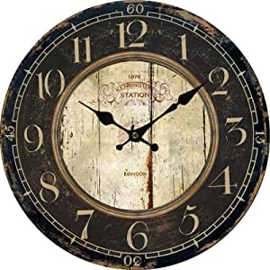 Lightinthebox Euro Country Vintage Wood Indoor Wall Clock Home Decor Clocks Size M