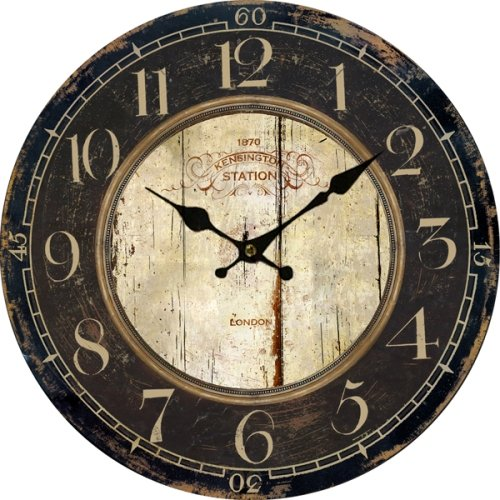 Lightinthebox Euro Country Vintage Wood Indoor Wall Clock Home Decor Clocks Size M (Clock Antique Parts Wall)