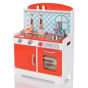 LCP Kids Kinder Spiel-Küche Mira 8 teiliges Komplett Set: Amazon.de ...