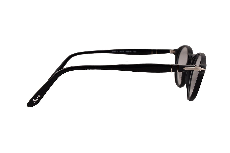 c00e16f7dc Persol PO3092V Eyeglasses 46-19-145 Black 9014 PO3092 (FRAME ONLY)   Amazon.co.uk  Clothing