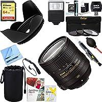 Nikon AF-S NIKKOR 24-85mm f/3.5-4.5G ED VR Lens (2204) + 64GB Ultimate Filter & Flash Photography Bundle