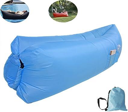 Silla inflable reclinable, sofá camas con aire comprimido, saco de dormir, camas
