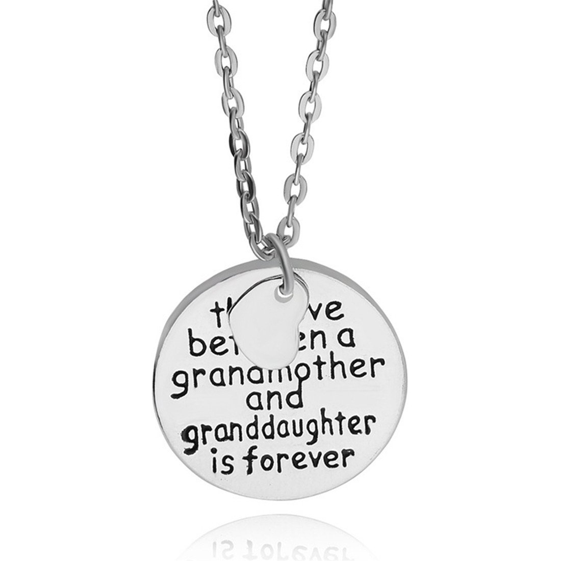 """VWH Pendant Necklace """"The love between a grandmother and granddaughter is forever"""""""
