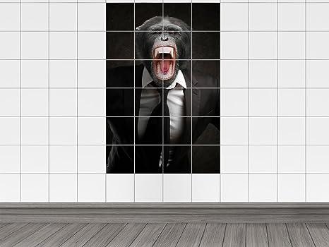 Piastrelle adesivo piastrelle immagine animali scimmia cravatta