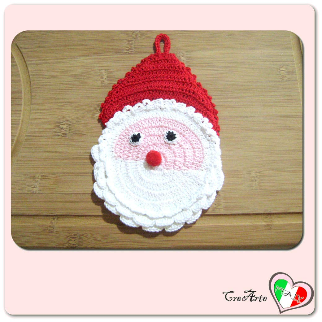 Presina Babbo Natale alluncinetto per Natale ITALY Handmade Dimensioni: 11.5 cm x 19 cm H