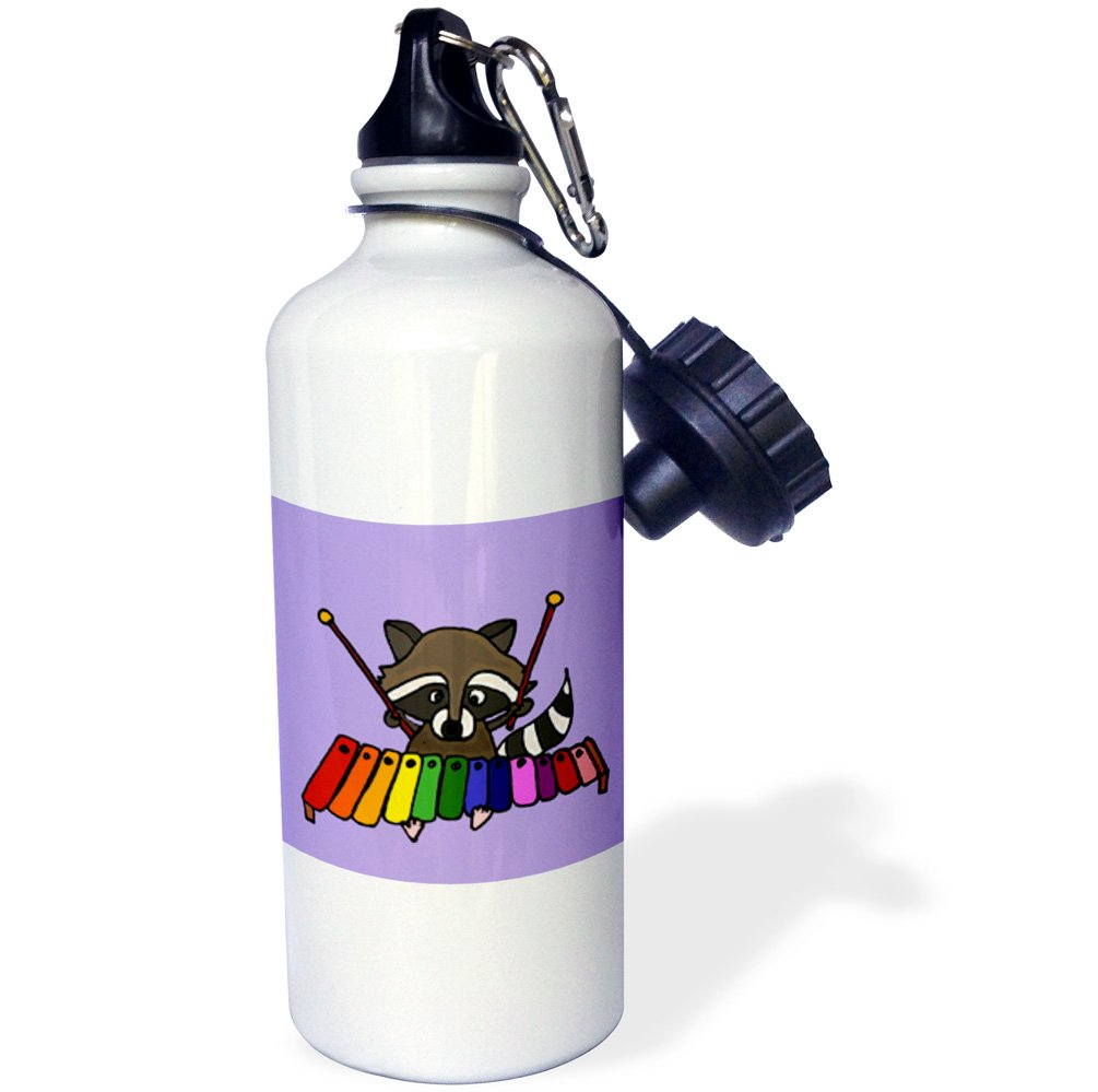 Multicolor 21 oz 3dRose wb/_200469/_1Funny Pickle Riding Bicycle Sports Water Bottle