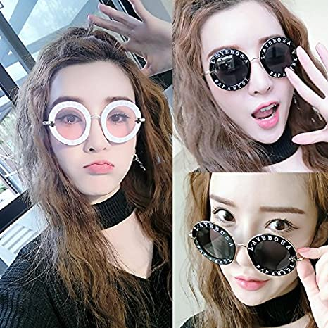 6d2aa8a831e High-Season with Cute Bee Vintage Letter Designer Eyewear Frame Round Sunglasses  Women 2018 Ladies