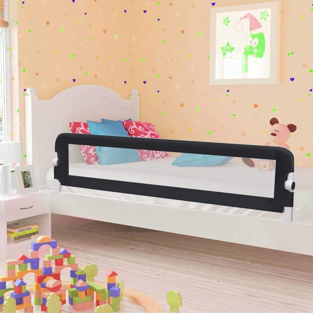 Barrera de cama extralarga,Barandilla Plegable de La Cama Infantil 180 x 40,5 x 42 cm,seguridad anticaidas ni/ños,negro