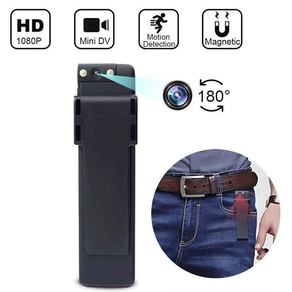Biback multifonctionnelle portátil Giratorio Mini cámara, cámara de Seguridad 1080p, Oculta para el hogar y el Oficina Interior Exterior Negro: Amazon.es: ...