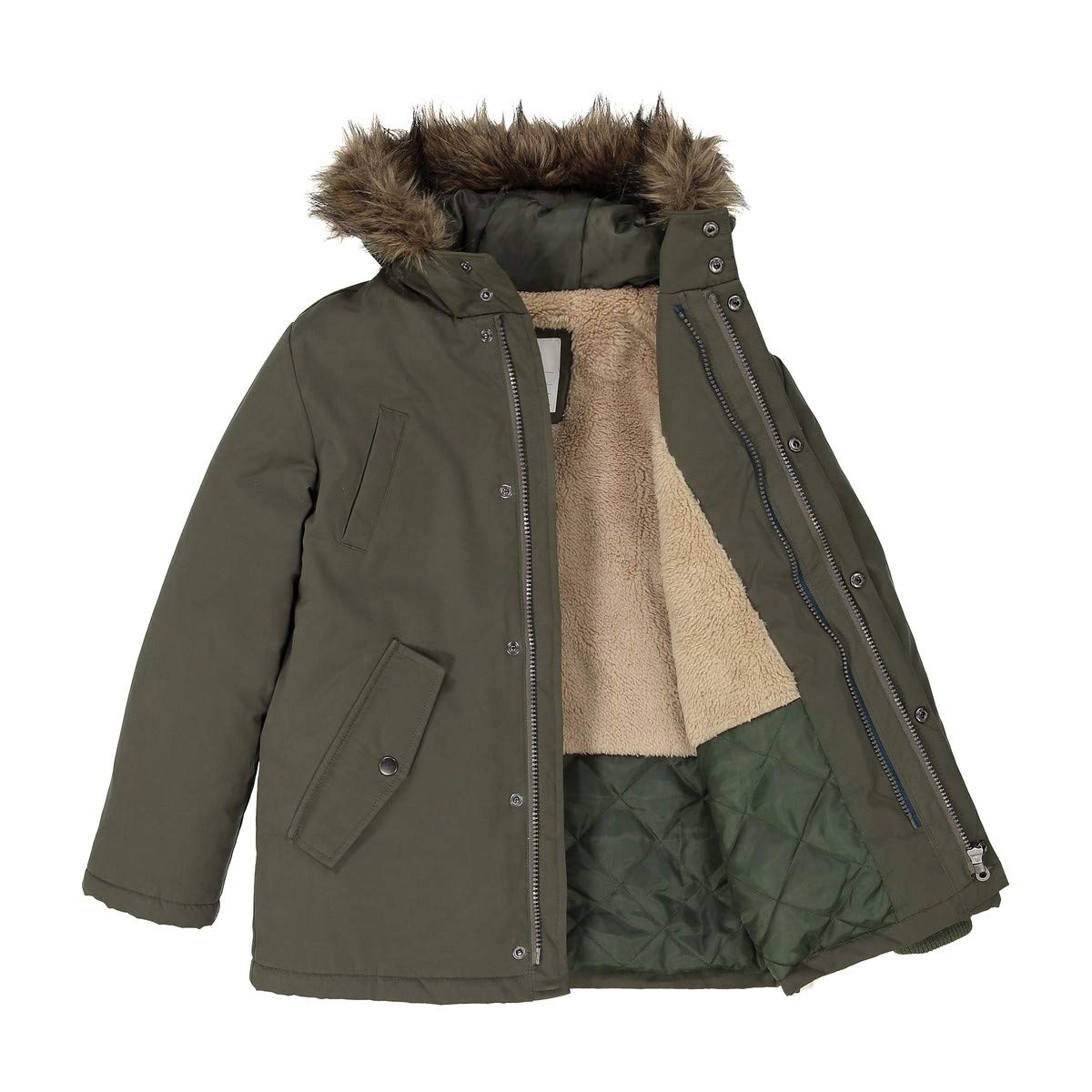 La Redoute Collections Big Boys 3-in-1 Parka, 3-12 Years Green Size 6 Years - 44 in.
