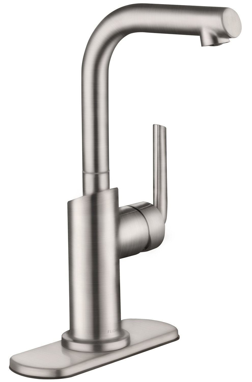 FEIDAR 360 Degree Swivel Single Handle Bar/Prep Faucet with Contemporary Design, Stainless Steel