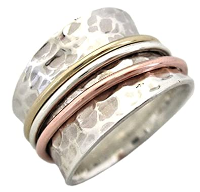 Jewelry Energy Stone Breeze Meditation Spinning Ring with