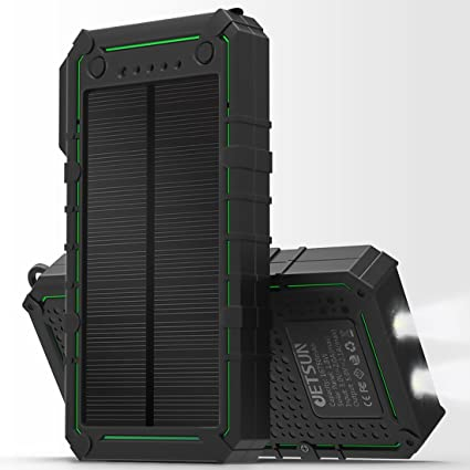 Amazon.com: jetsun Cargador Solar, 16750 mAh Portable Solar ...