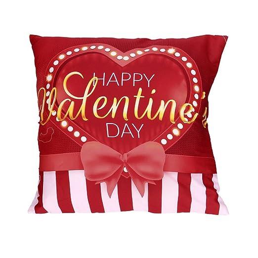 SANFASHION Funda de Almohada para el día de San Valentín ...
