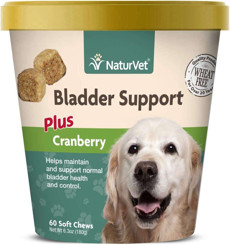 NaturVet Bladder Support for Dogs Plus Cranberry Supports Healthy Bladder Control Normal Urination