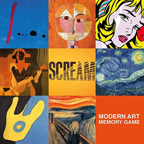 Modern Art Deluxe Memory Game (Memory Art Game)