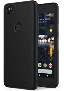 separation shoes 65e8e a50a7 Spigen [Thin Fit] [Black] Case for Google Pixel 2, Hard PC Premium ...
