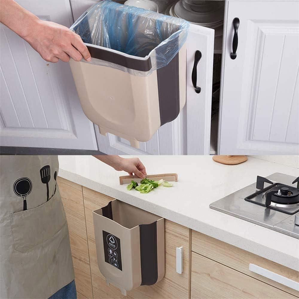 7L Dormitorio y Coche OMG Cubos de Basura Plegable Bote de Basura Colgante Basurero Plegable Basura Extraible para la Cocina