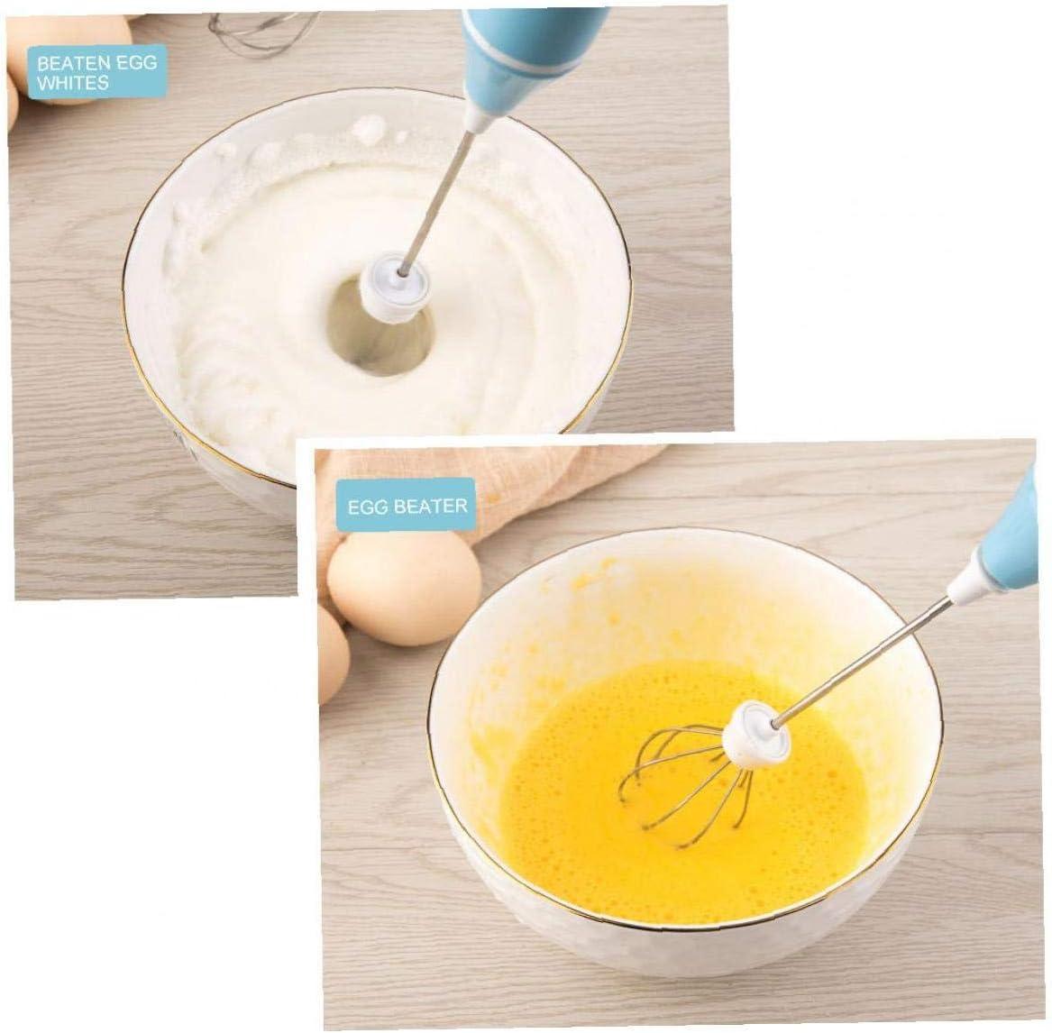 nero 1 Set ricarica USB elettrico Frullino casa Mixer portatile Egg Blender Cucina Mini frusta forniture di cottura