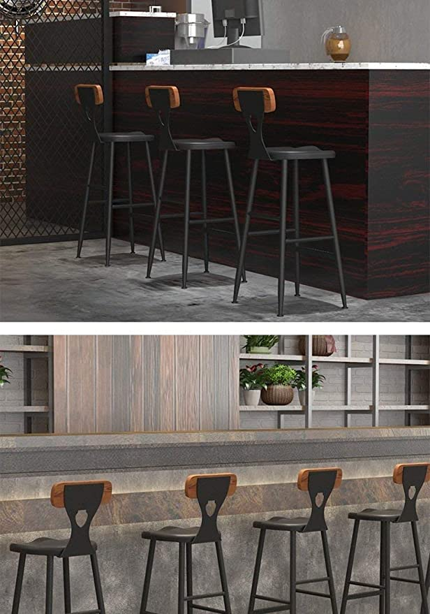 Amazon.com: XF Hong Tai Yang Barstools-Pub Coffee Bar Stools ,Black Max Load 120 kg Beautiful Decoration (Size : 40x40x95cm): Kitchen & Dining