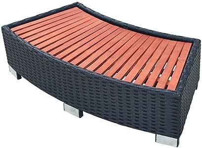 vidaXL Escalón para Entrar en SPA Jacuzzi de Exterior Escaleras para Bañera de Hidromasaje de Jardín Poli Ratán Sintético Negro Material Tipo Mimbre: Amazon.es: Jardín