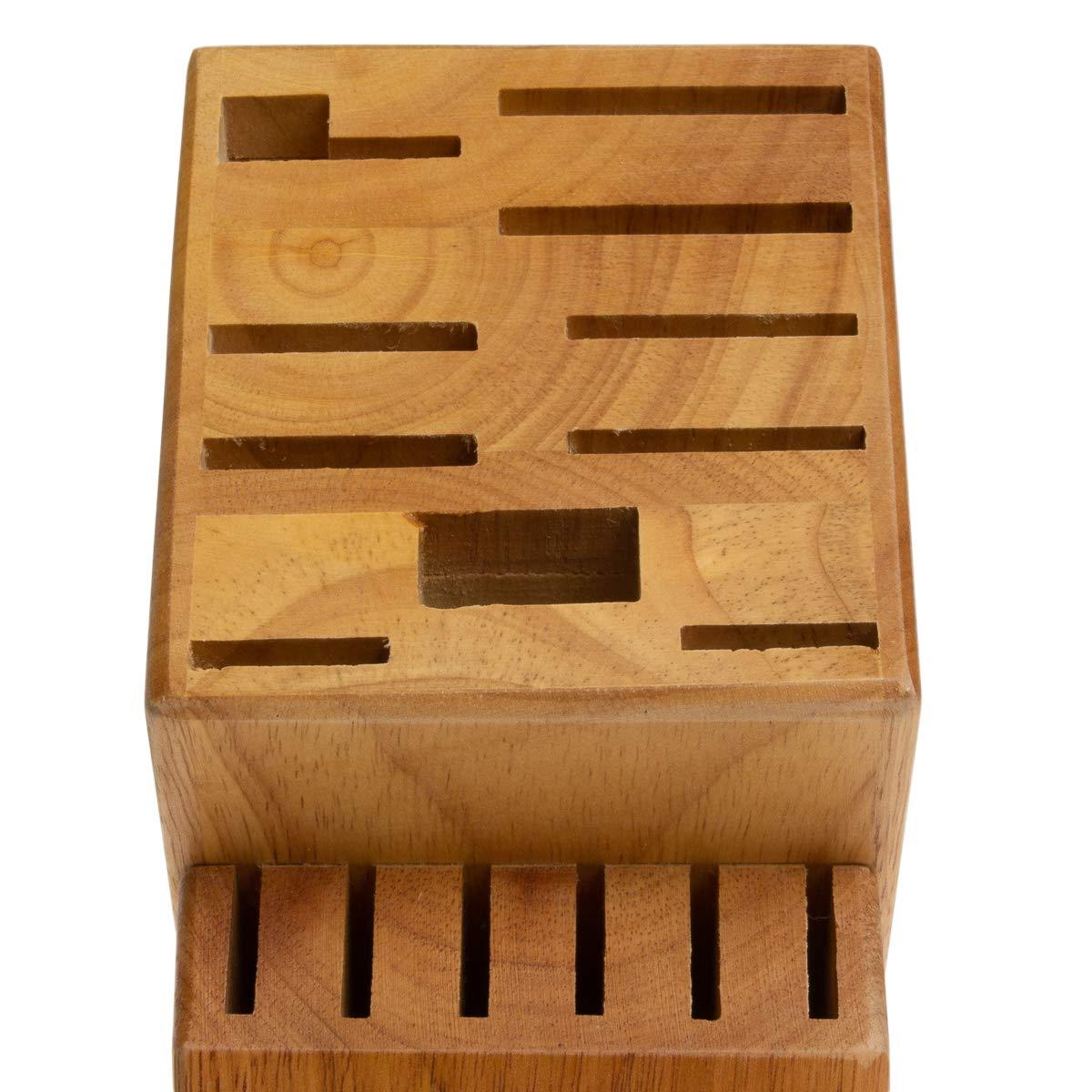 Hampton Forge 16-Slot Empty Cutlery Block, Wood, HMC01B016G by Hampton Forge Cutlery (Image #2)